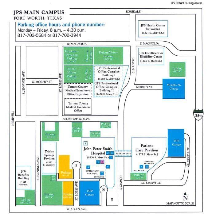 jps health network campus map - Fort Worth EM Residency Program